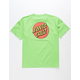 SANTA CRUZ Classic Dot Lime Boys T-Shirt