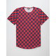 ELWOOD Checked Tall Mens T-Shirt