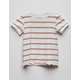 FULL TILT Retro Stripe White Girls Tee