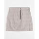 WHITE FAWN Half Zip Plaid Girls Skirt