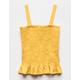 WHITE FAWN Smocked Peplum Mustard Girls Tank Top