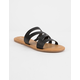 BAMBOO Asymmetric Black Womens Sandals