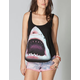 BILLABONG White Mike Don't Be Scared Womens Tank