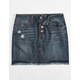 REWASH Exposed Button Ripped Girls Denim Skirt