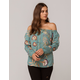 ROXY Paradise Womens Off The Shoulder Top
