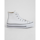 CONVERSE Chuck Taylor All Star Lift Faux Leather White Womens High Top Shoes