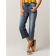 SKY AND SPARROW Fray Wide Leg Womens Crop Jeans
