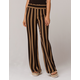 SKY AND SPARROW Stripe Womens Wide Leg Pants