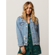 SKY AND SPARROW Ripped Oversized Womens Denim Jacket