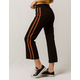 SKY AND SPARROW Stripe Flared Womens Crop Pants