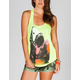 BILLABONG White Mike Move Fast Womens Tank