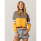 FULL TILT Color Block Mustard Womens Crop Sweatshirt