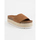 DIRTY LAUNDRY Pippa Espadrille Brown Womens Platform Sandals