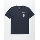 BRIXTON x Coors Filtered Navy Mens Pocket Tee