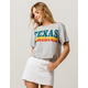 FULL TILT Texas Heather Gray Womens Crop Tee