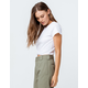 BOZZOLO Twist Front White Womens Crop Tee