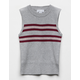 WHITE FAWN Stripe Sweater Gray Girls Tank Top