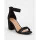 BAMBOO Ankle Strap Black Womens Heeled Sandal