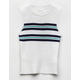 WHITE FAWN Stripe Sweater White Girls Tank Top