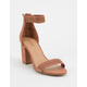 BAMBOO Ankle Strap Mauve Womens Heeled Sandal