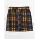 WHITE FAWN Plaid Button Front Girls Skirt