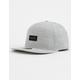 HURLEY Dri-FIT Staple Gray Mens Snapback Hat