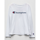 CHAMPION Heritage White Girls Tee