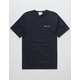 CHAMPION Embroidered Script Logo Navy Mens T-Shirt
