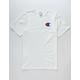 CHAMPION Screen Logo White Mens T-Shirt