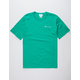 CHAMPION Embroidered Script Logo Green Mens T-Shirt