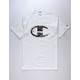 CHAMPION Camo & Foil Logo White Mens T-Shirt