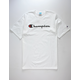 CHAMPION Script Logo White & Black Mens T-Shirt