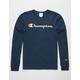 CHAMPION Script Foil Navy Mens T-Shirt