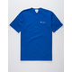 CHAMPION Embroidered Script Logo Blue Mens T-Shirt