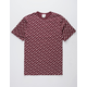 CHAMPION Allover Script Screen Burgundy Mens T-Shirt