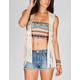 FULL TILT Crochet Fringe Womens Vest