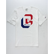 CHAMPION Heritage Shadow Screen White Mens T-Shirt