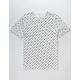 CHAMPION Allover Script Screen White Mens T-Shirt