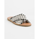 DIRTY LAUNDRY Edina Stripe Fabric Womens Sandals