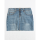 VANILLA STAR Half Zip Girls Denim Skirt