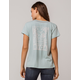 RVCA Couple Fun Blue Womens Pocket Tee