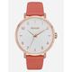 NIXON Arrow Leather Rose Gold & Salmon Watch
