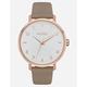 NIXON Arrow Leather Rose Gold & Gray Watch