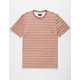 ALTAMONT Cromwell Red Mens Pocket Tee