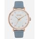 NIXON Arrow Leather Rose Gold & Blue Watch