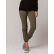 SKY AND SPARROW Twill Olive Womens Jogger Pants