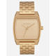 NIXON Time Tracker Gold Watch
