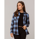 FULL TILT Boyfriend Blue Womens Flannel Shirt