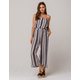 IVY & MAIN Stripe Tube Navy & White Womens Jumpsuit