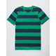 ELWOOD Rugby Stripe Green Mens T-Shirt